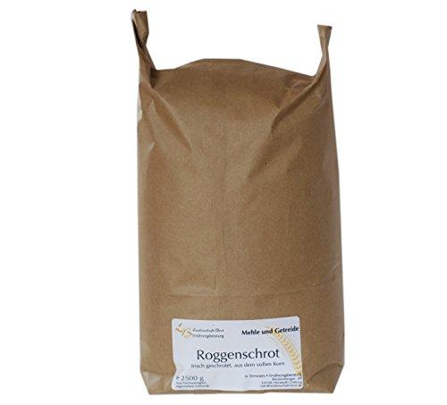 2,5 kg Roggenschrot Vollkorn aus konventionellen Anbau aus Schleswig-Holstein
