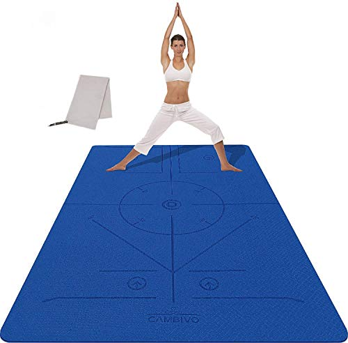 CAMBIVO Esterilla Yoga Extra Grande, Yoga Mat Antideslizante Colchoneta Fitness para Hombre y Mujer, Colchoneta Gimnasia para Ejercicio en Casa, Yoga, Pilates, Deporte 182 x 122 x 0,6 cm