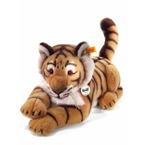 Steiff 064463 Radjah 45 liegend Tiger, BLOND GESTREIFT
