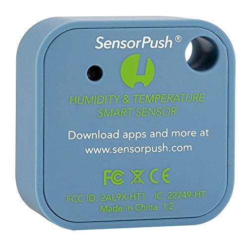 SensorPush Wireless Thermometer/Hygrometer for iPhone/Android - Humidity & Temperature Smart Sensor...