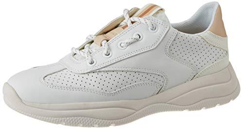 Geox Damen D SMERALDO A Sneaker, Weiß (White C1000), 41 EU