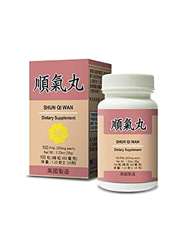Shun Qi Wan Herbal Supplement Helps for Stomach & Digestive System 350mg 100 Pills Made in USA