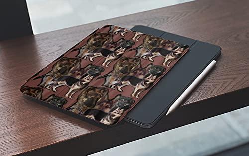 MEMETARO Funda para iPad 10.2 Pulgadas,2019/2020 Modelo, 7ª / 8ª generación,Superposición de Pastor alemán Smart Leather Stand Cover with Auto Wake/Sleep