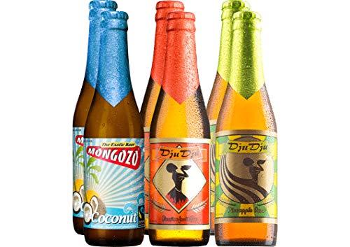 Exotisches Bier Paket Afrika mit 6 Bierflaschen - Kokosnuss-Bier + Maracuja-Bier + Ananas-Bier für Fruchtbier-Liebhaber, exotischen Biergenuss und als Bier-Geschenk