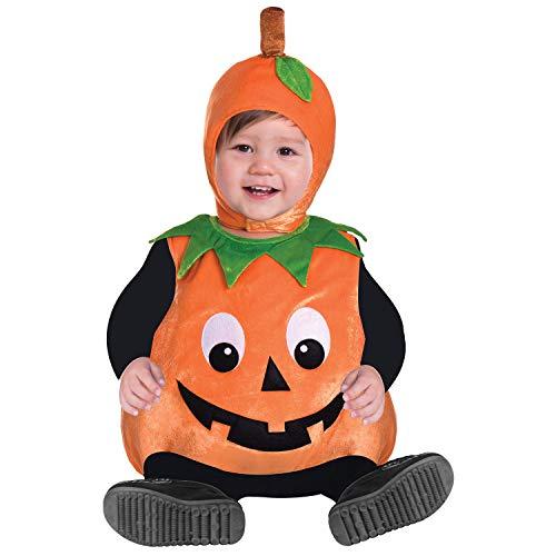 Amscan 9903884 - Disfraz de calabaza para bebé (2 a 3 años)