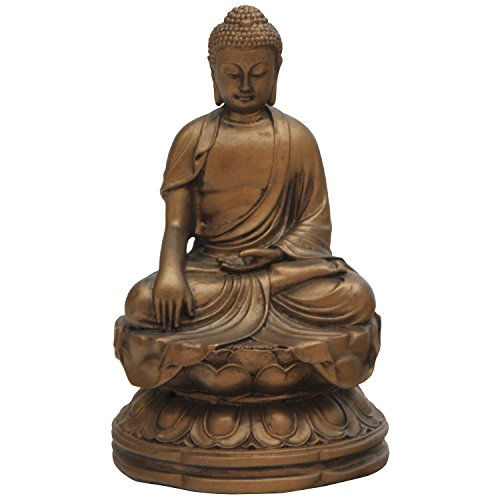 Earth Touching Buddha Statue, Bronze, 4.5 Inches