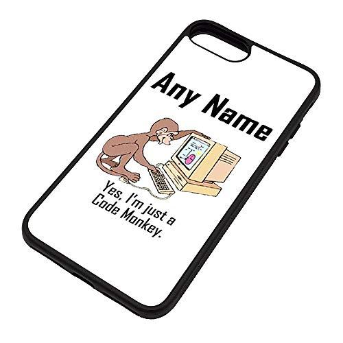 Gepersonaliseerd cadeau - Ik ben een code aap iPhone hoesje (Gelegenheid ontwerp kleur opties) elke naam bericht uniek - Apple 6 6s 7 Plus TPU Cover - Computer programmeur carrière baan bezetting dier ontwerper
