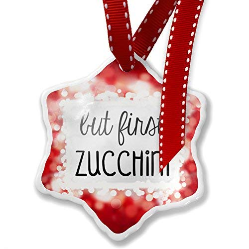 But First Zucchini Christmas Ornaments Personalized Funny Christmas Keepsak Ornament for Christmas Tree Decorations,Christmas Decoration