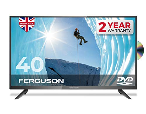 "Ferguson 40"" inch Full HD LED TV With DVD player, Freeview HD, USB & 3 x HDMI - British Manufacturer - F4020F (New 2020 Model)"