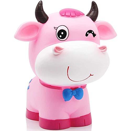Wohenmang Cofrinho de boi com lindo cofrinho de touro, porta-moedas, cofrinho criativo, para crianças, presente de Bitrthday