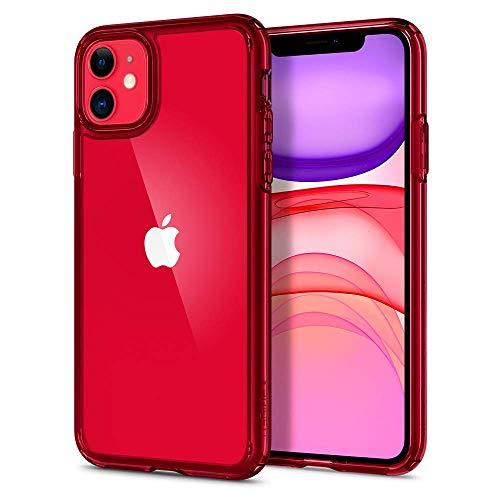 Spigen Funda Ultra Hybrid Compatible con iPhone 11 - Rojo Cristalina