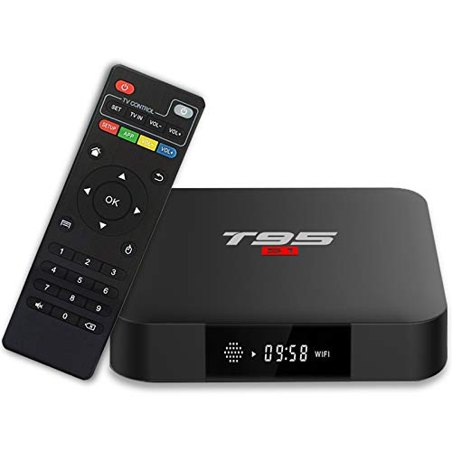 T95 S1 Android 7.1 TV Box with 1GB RAM / 8GB ROM Amlogic S905W Quad-core Digital Display HDMI HD Support 2.4G WiFi 3D 4K