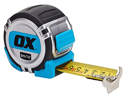 OX Tools OX-P028705 Pro Heavy Duty Metric Imperial 5m tape measure, Multi-Colour