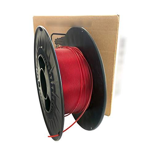 Filament 3D printer - PET-G colour Red transparent - 1.75 mm - Weight 1000 g (1 kg) 3D printing