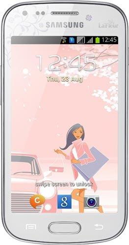 Samsung Galaxy S Duos GT-S7562–Weiß La Fleur Edition