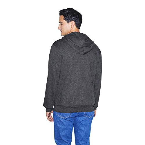 American Apparel Unisex's Flex Fleece Long Sleeve Zip Hoodie Hooded Sweatshirt, Dark Heather Grey, S