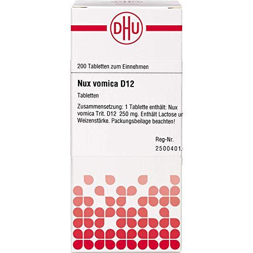 DHU Nux vomica D12 Tabletten, 200 St. Tabletten