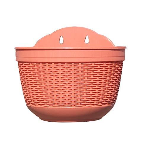MINGMIN-DZ Dauerhaft Zaun Schlafzimmer Garten-Pflanzer Blumentopf Halbkreis Minimalist Innenministerium DIY Container Wohnzimmer Innen Wandbehang (Color : Red)