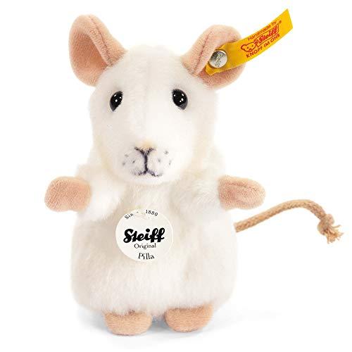 Steiff 56215 Pilla - Ratón de peluche color blanco de 10 cm [Importado de Alemania]