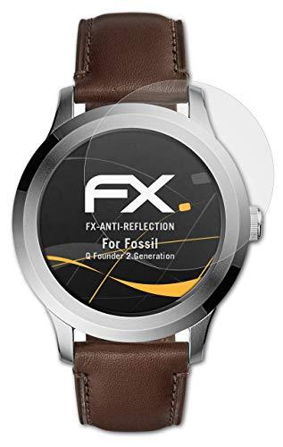 atFoliX Panzerfolie kompatibel mit Fossil Q Fo&er 2.Generation Schutzfolie, entspiegelnde & stoßdämpfende FX Folie (3X)