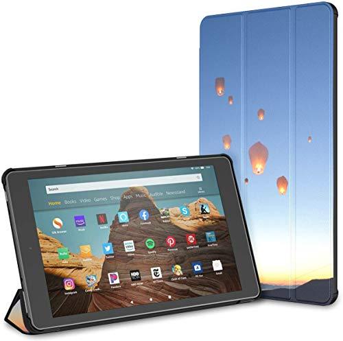 Estuche para Tableta Kongming Lantern Over The Evening Fields Fire HD 10 (9.a / 7.a generación, versión 2019/2017) Estuche para Tableta Fire 10 HD Estuches para Kindle Fire HD 10 Auto Wake /