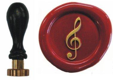 Siegel Stempel Petschaft Notenschlüssel 24 mm