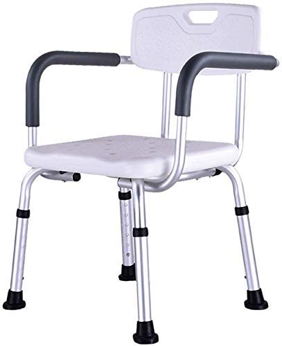 JF-XUAN Stools Bath Stool Shower/Bath Stool Lightweight Aluminum Shower Seat Handicapped Assisted NonSlip Shower Chair Adjustable Height / / Disabled/Pregnant White Heavy Duty Max. 150 Kg AntiSlip Sh