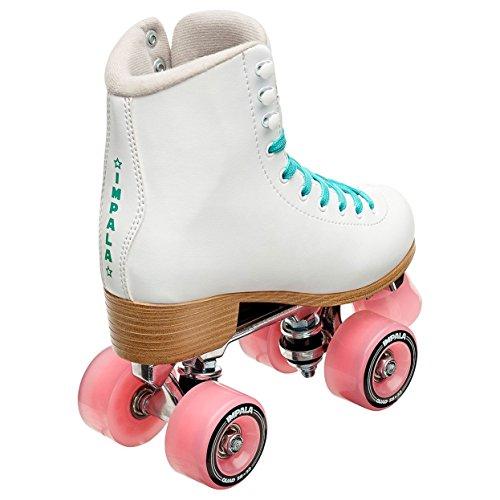 Impala Rollerskates Girl's Impala Quad Skate (Big Kid/Adult) White 8 (US Men's 6, Women's 8) M