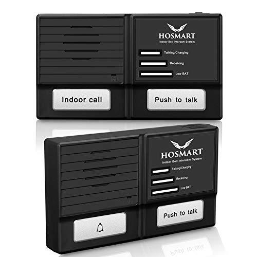 Hosmart 1500FT Wireless Doorbell and Intercom System-Weather/Water Proof
