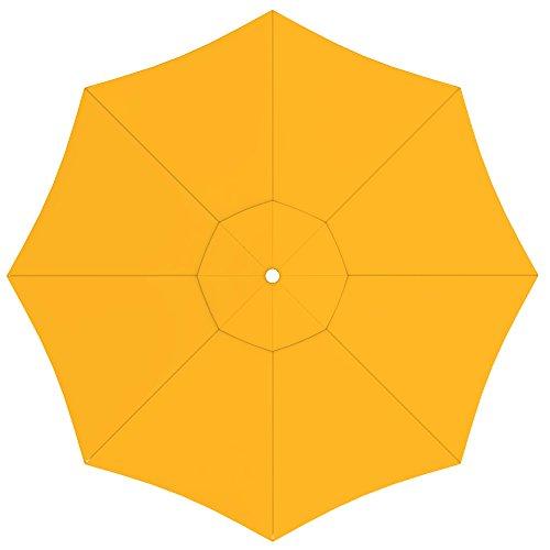 paramondo Sonnenschirm Bespannung Ink. Air Vent für paragrandi Gartenschirm/Großschirm (5m / rund), gelb