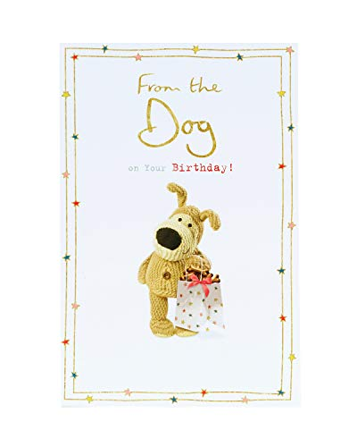 Birthday Card from The Dog - Birthday Card for Her - Cute Boofle Desig