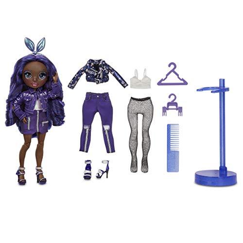 Rainbow High Fashion Doll - Krystal Bailey - Indigo Puppe mit Luxus-Outfits, Accessoires und Puppenständer - Rainbow High Series 2 - Perfektes Geschenk für Mädchen ab 6+ Jahren