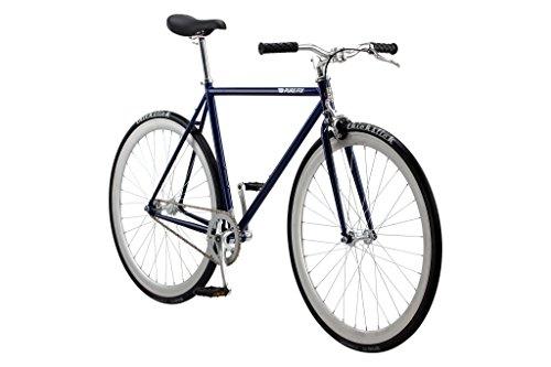Pure Fix Cycles Erwachsene Fixie The Fixed Gear Fahrrad mit einem Gang, November Blau/Silber, 47 cm/X-Small