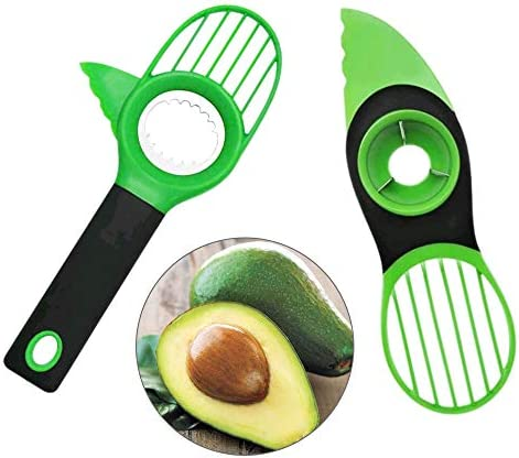 NACTECH Avocado Slicer 3 in 1 Avocado Peeler Avocado Cutter with Comfort Grip Handle Works as product image