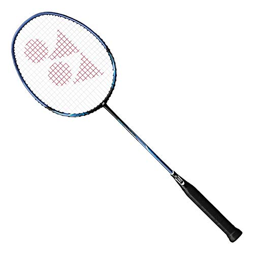 YONEX Nanoray 10F Hi-Flex Pre-Strung Badminton Racquet, Black/Blue