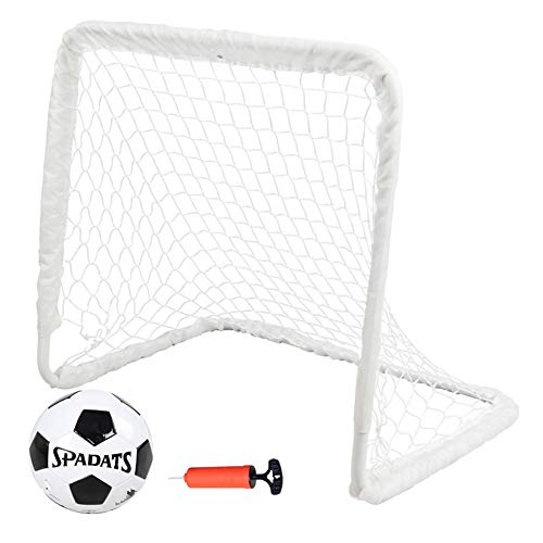 Ouuager-Home Football Goals Football Training Net Indoor Mini Soccer Soccer Ball Goal Post Net Indoor Outdoor Training Practice Portable Football Goal (Color : White, Size : 62x38x55cm)