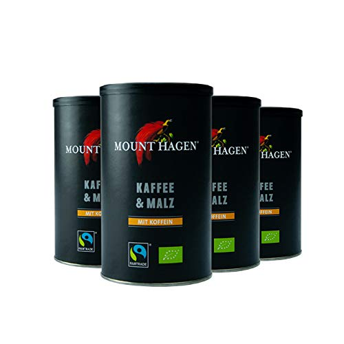 Mount Hagen Bio Kaffee & Malz, 100 g 4er Pack