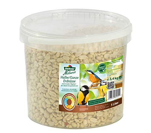 Dehner Natura Wildvogelfutter, halbe/ganze Erdnüsse, 5 l (3.4 kg)