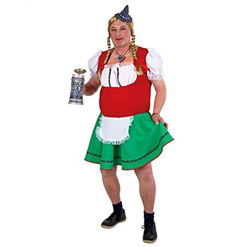 Karnevalkostüm Herren-Dirndl -Liesl-, Größe: 56/58