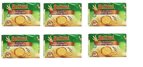 6x Buitoni Granfetta Fette Biscottate Integrali mit Vollkornmehl 80 fette Vollkorn Zwieback Kekse 600g