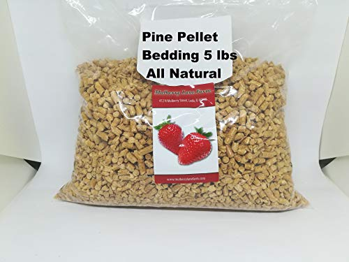 Pine Pellet Bedding, 5 Pounds all Natural, For All Your Large or Small Animal Bedding Needs, Earth Friendly, No Dust Bulk