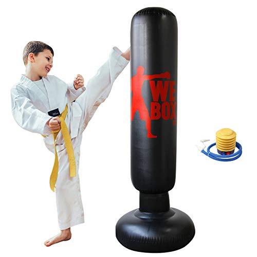 Inflatable Boxing Punching Bag, Fitness Punching Bag for Kids/Adult, Freestanding Boxing Target Bag,...