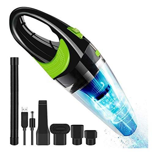 XIAOYAFANG HXFANG Aspirador Fuerte del Poder del Coche de Portable Inicio Alquiler Aspirador Handheld 120W Mini Coche aspiradora Ahora Caliente (Color : Green Black Clear)