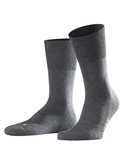 FALKE Unisex Socken, Run U SO- 16605, Grau (Dark Grey 3970), 42-43