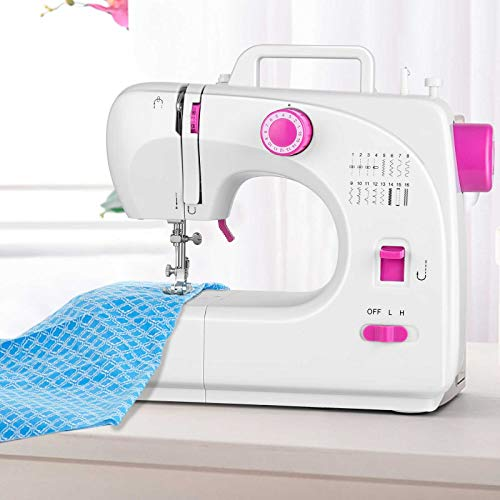 Sewing Machine Eofiti Mini Sewing Machine Multi-function 16 Stitches Speed Adjustable Electric Portable Sewing Machine Compact for Beginners Amateurs with Foot Pedal for Family DIY Handmade