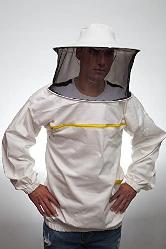 Bee Art ,Imkerkleidung in bester Qualität. Anzug mit runden Hutärmeln und Gummiband. Weist Bienen und Insekten ab Professionelles Produkt, ausgezeichneter Schutz für Imker. Farbe:weiß XL