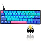 Gk61 60% Mechanical Keyboard Gaming Custom SK61 Hot Swappable 60 Percent with PBT Keycaps RGB...