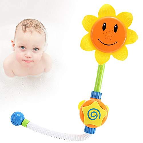 Yisily Wasserspielzeug Badewanne Kleinkind Baby-Bad-Spielzeug Baby-Badewanne Spielzeug Sunflower Cartoon Wasser-Dusche Spray Bade Tub Springbrunnen Spielwaren FüR (Gelb)
