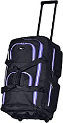 "Constructed Of Supreme ""Protecflon"" Polyester With 1200 D. Polyester Recessed in-line skate metal ball bearing wheel system and hide-away retractable handle Self-repairing excel zippers, Weighs 5.1 pounds 8 convenient pockets for maximum packing vers..."