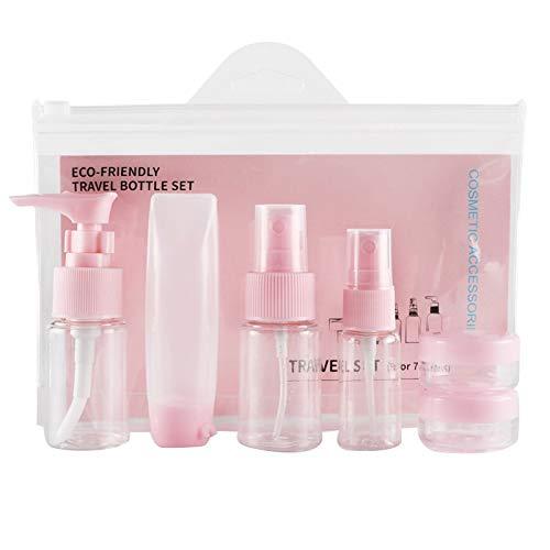 Fauge Rose 9 Pcs/Set Portable CosméTique Pot Vide Forfaits Maquillage CrèMe pour le Visage Conteneur Recharge Bouteilles